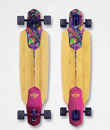 """Dusters Tropical Channel 38"""" Drop Through Longboard Complete"""