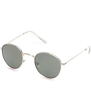 Dyllon Gold Metal Frame Sunglasses