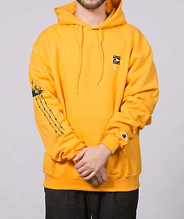 EHLIFE Barbed Boarder Gold Hoodie