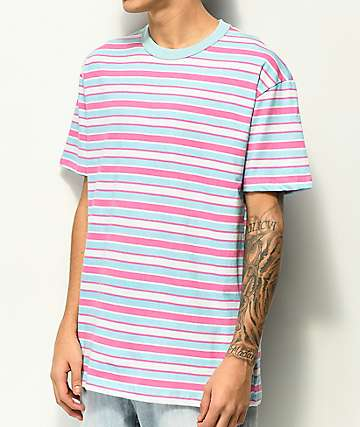 EPTM. Light Blue & Light Pink Stripe T-Shirt