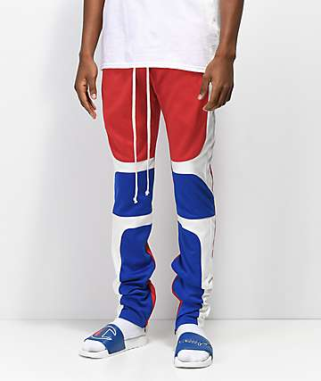 EPTM. Moto Red, White and Blue Track Pants
