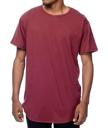 EPTM. OG camiseta alargada en color borgoño