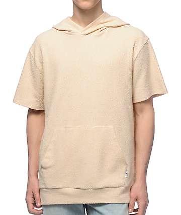 EPTM. Sherpa Nude Short Sleeve Hoodie
