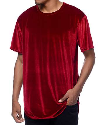 EPTM. Velour OG Burgundy Elongated T-Shirt