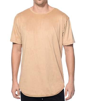 EPTM. camiseta alargada de ante color crema