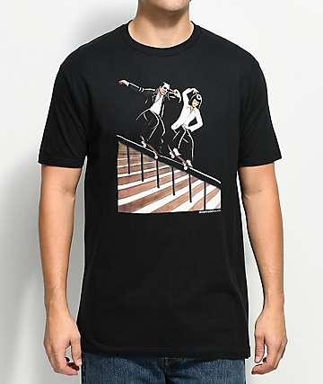 EVERYBODY Skates Rail Jam Black T-Shirt
