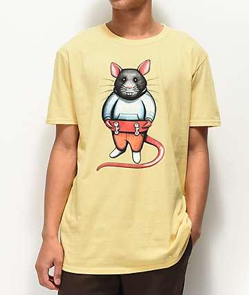 EVERYBODY Skates Skate Rat Stance Yellow T-Shirt