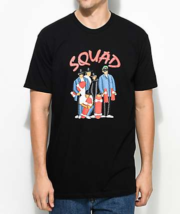 EVERYBODYSKATES Squad Graphic Black T-Shirt