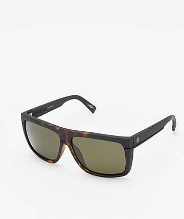 Electric Black Top Tobacco Tort Burst Polarized Sunglasses