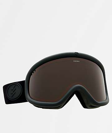 Electric Charger Matte Black & Brose Snowboard Goggles