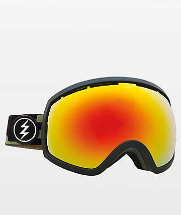 Electric EG2 gafas de snowboard de cromo rojo y camuflaje