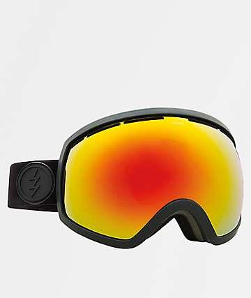 Electric EG2 gafas de snowboard en negro mate y cromo rojo