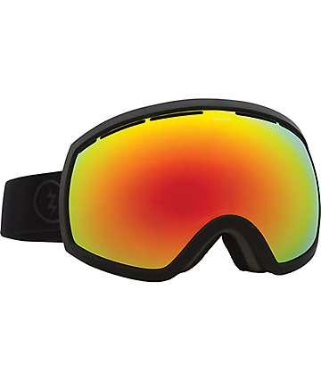 Electric EG2 máscara de snowboard en mate negro y rojo y bronce cromado