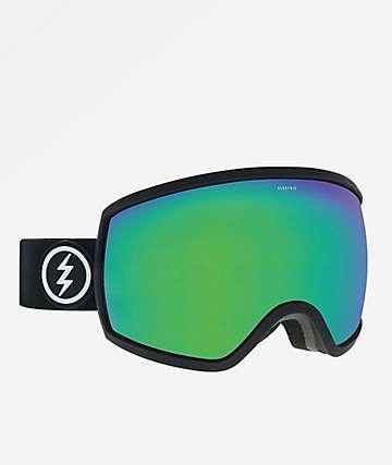 Electric EGG Matte Black, Brose & Green Snowboard Goggles