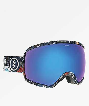 Electric Egg Curl gafas de snowboard de cromo azul