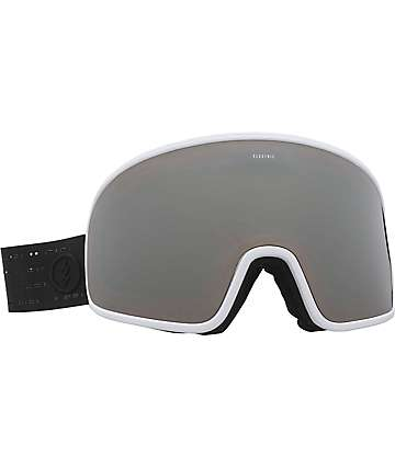 Electric Electrolite Matte Black, White & Silver Chrome Snowboard Goggles