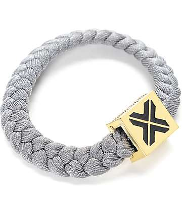 Electric Family X Grey & Gold Bracelet