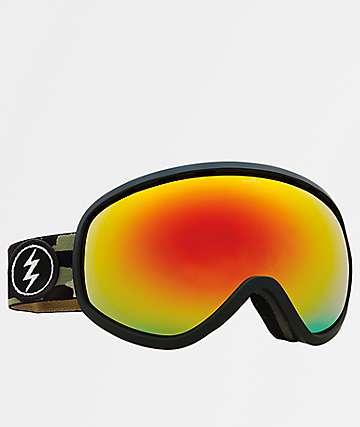 Electric Masher gafas de snowboard de camuflaje y cromo rojo