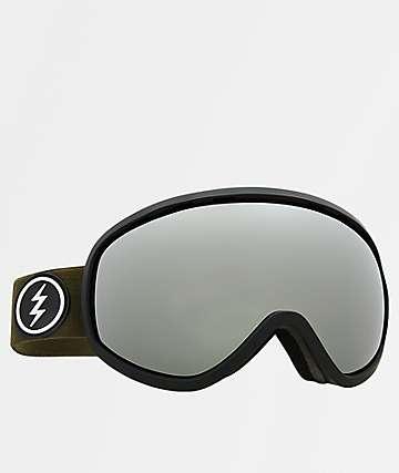 Electric Masher gafas de snowboard en negro y cromo