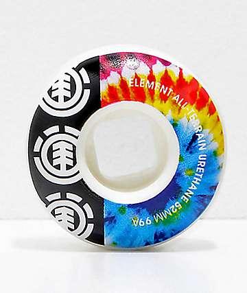 Element 52mm 95a ruedas de skate con efecto tie dye