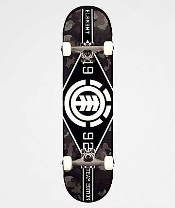"Element 8.0"" Bark Camo Skateboard Complete"