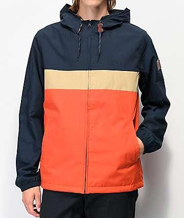 Element Alder Orange, Khaki & Navy Colorblock Jacket