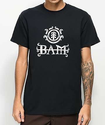 Element Bam Black T-Shirt