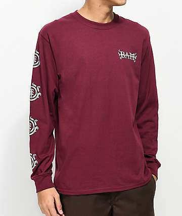 Element Bam Burgundy Long Sleeve T-Shirt