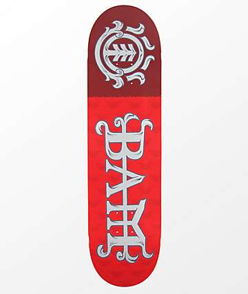 "Element Bam Margera 8.25"" tabla de skate en rojo"