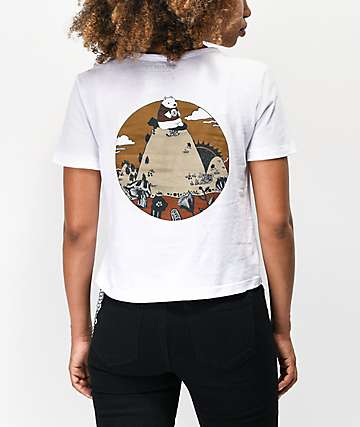 Element Bearly White Crop T-Shirt