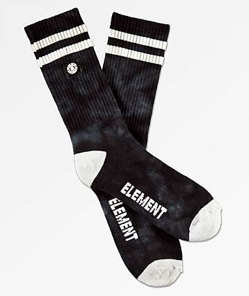 Element Black Tie Dye Crew Socks