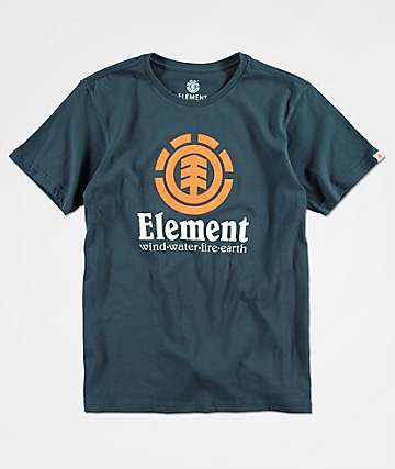 Element Boys Vertical Navy T-Shirt