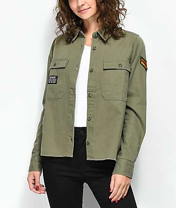 Element Candella Woven Military Green Jacket