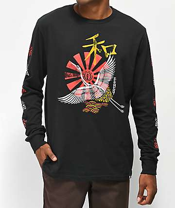 Element Crane Black Long Sleeve T-Shirt