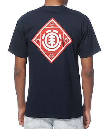 Element Diamonte Navy T-Shirt