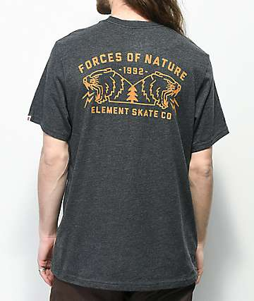 Element Duel Heather Black T-Shirt