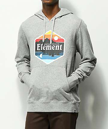 Element Dusk sudadera gris con capucha
