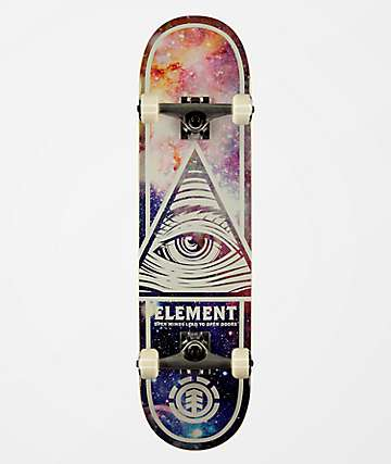 "Element Eye Trippin Cosmos 8.0"" Skateboard Complete"