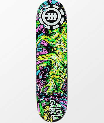 "Element Garcia Bright Night 8.0"" Skateboard Deck"