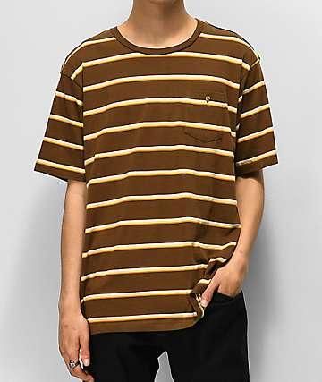 Element Grenson Brown Striped T-Shirt