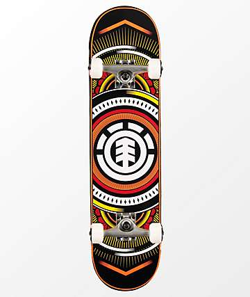 "Element Hatched 7.75"" completo de skate en rojo"