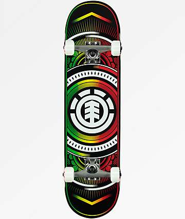 "Element Hatched Rasta 8.0"" Skateboard Complete"