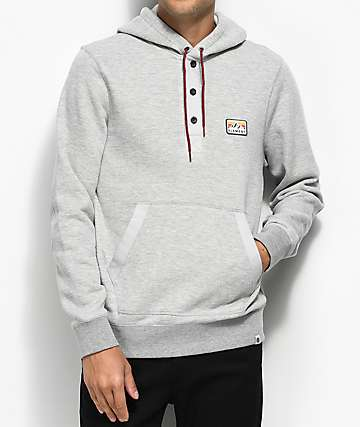 Element Highland Oatmeal Henley Hoodie