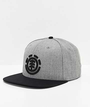 Element Knutsen Grey & Black Snapback Hat