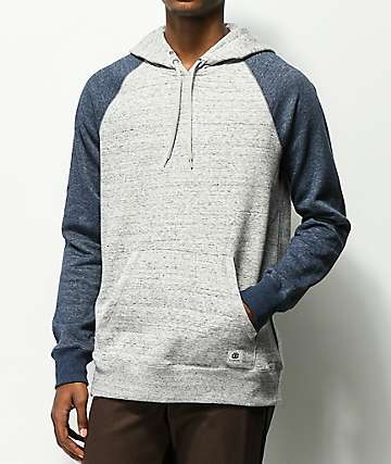 Element Meridian Block Grey & Blue Hoodie