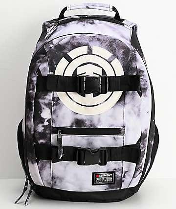 Element Mohave Black & White Acid Wash Backpack
