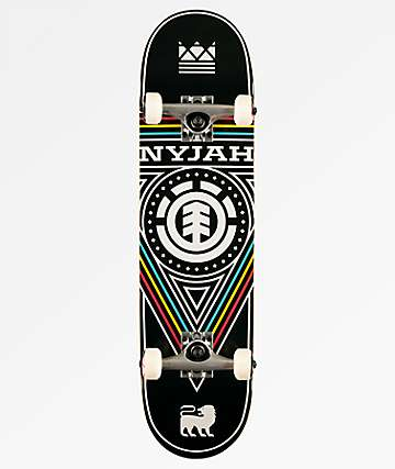 "Element Nyjah Triangle Twig 7.6"" Skateboard Complete"