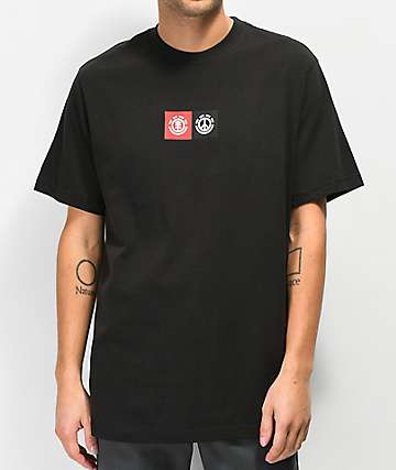 Element Peace Front Black T-Shirt