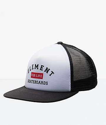 Element Rift gorra de camionero blanca y negra