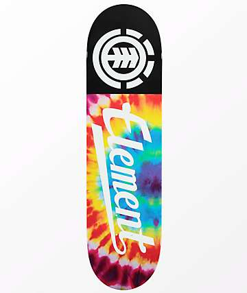 "Element Script Tie Dye 7.75"" Skateboard Deck"